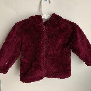 Fuzzy soft Maroon coat